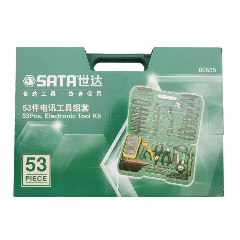 Шида SATA53 кусок набор инструментов отвертка щипцы рулетка Телекоммуникационные средства торцовый ключ костюм 09535