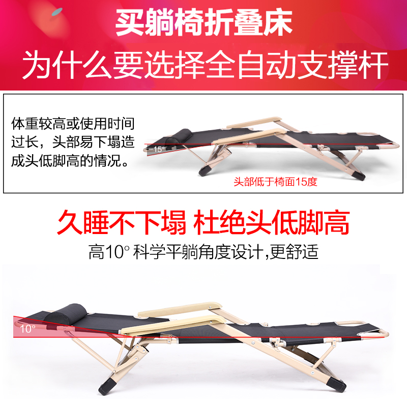 Outdoor folding bed is simple, portable, widened, simple bed, indoor 1, easy to carry, 5 office 1.8