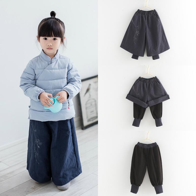 儿童阔腿裤17冬男女