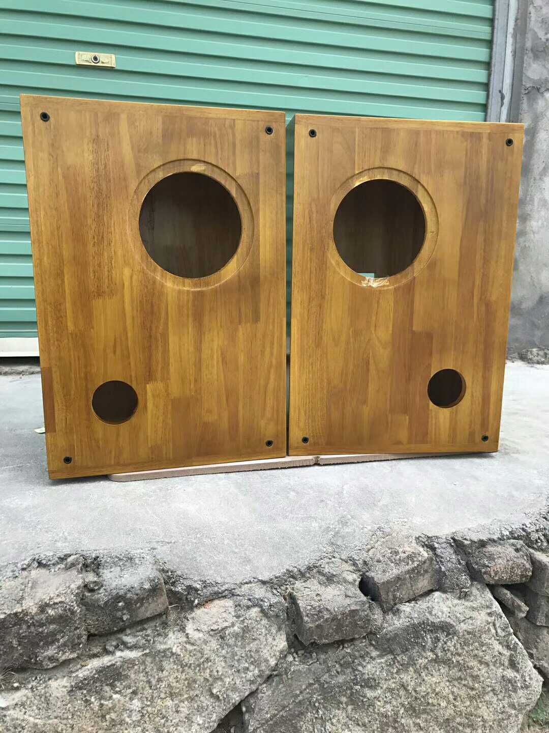 Custom morning glory 8 inch HIFI MG-F8 full frequency loudspeaker unit supporting large wood Bookshelf Speakers empty body