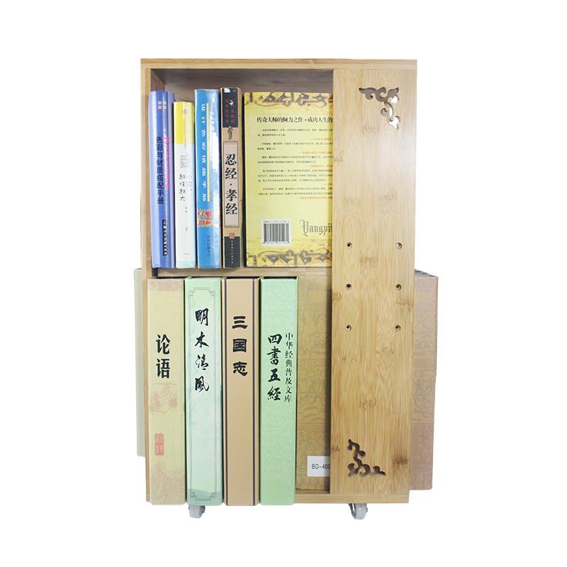 사무실 거실 서재 죽실 木桌 위에 책이 땅에 다층 회전 책꽂이 수납하다 置物 대가