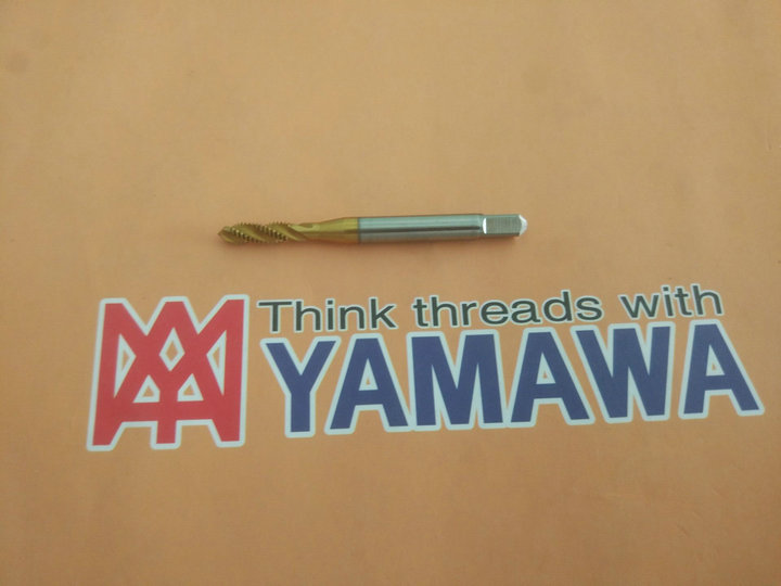Japan YAMAWA spiral screw tap tap M4X0.7 imported titanium stainless steel precision P M4*0.7