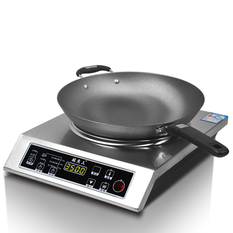 - paní konkávní elektromagnetické pece větší výkon 3500W užitkových sporák 爆炒 3500W elektromagnetické energie pro prodej.