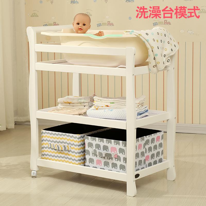 Ο μπέμπε παιδικές πάνες σταθμό νοσηλευτική πίνακα μωρό στο μπάνιο να αλλάξει σταθμό το μωρό της ββ μασάζ, μωρό 床实木