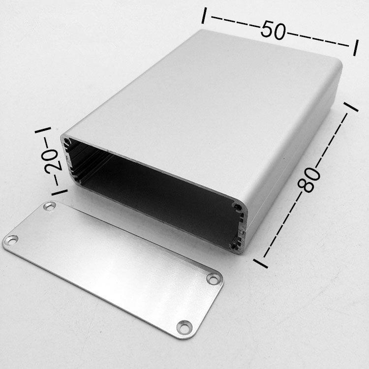 알루미늄 합금 케이스 铝型 재료 캡시드 케이스 알루미늄 케이스 껍데기 가공 사용자 정의 50*20*80 전력 계기