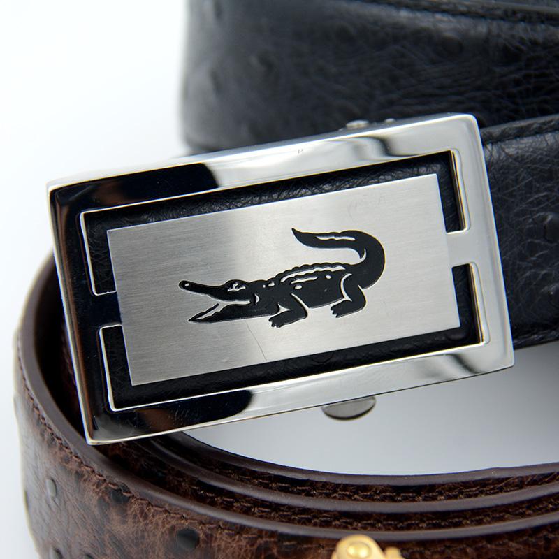 ベルト男真皮層の純牛革ベルトバックル。ファッション自動潮流欧米でカジュアル靑年百搭ベルト