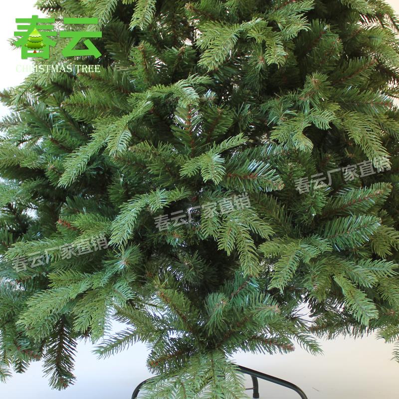 1.8米PE+PVC美版圣诞树 圣诞树装饰品 厂家直销 高档仿真圣诞树_图3