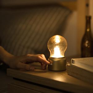 复古灯泡灯 创意英伦风USB充电小夜灯 led节能迷你床头氛围台灯