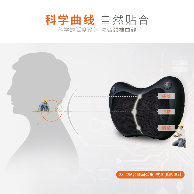 Multifunctional acupoint cushions shock thin waist slimming instrument equipment vehicle household cervical vertebra massager