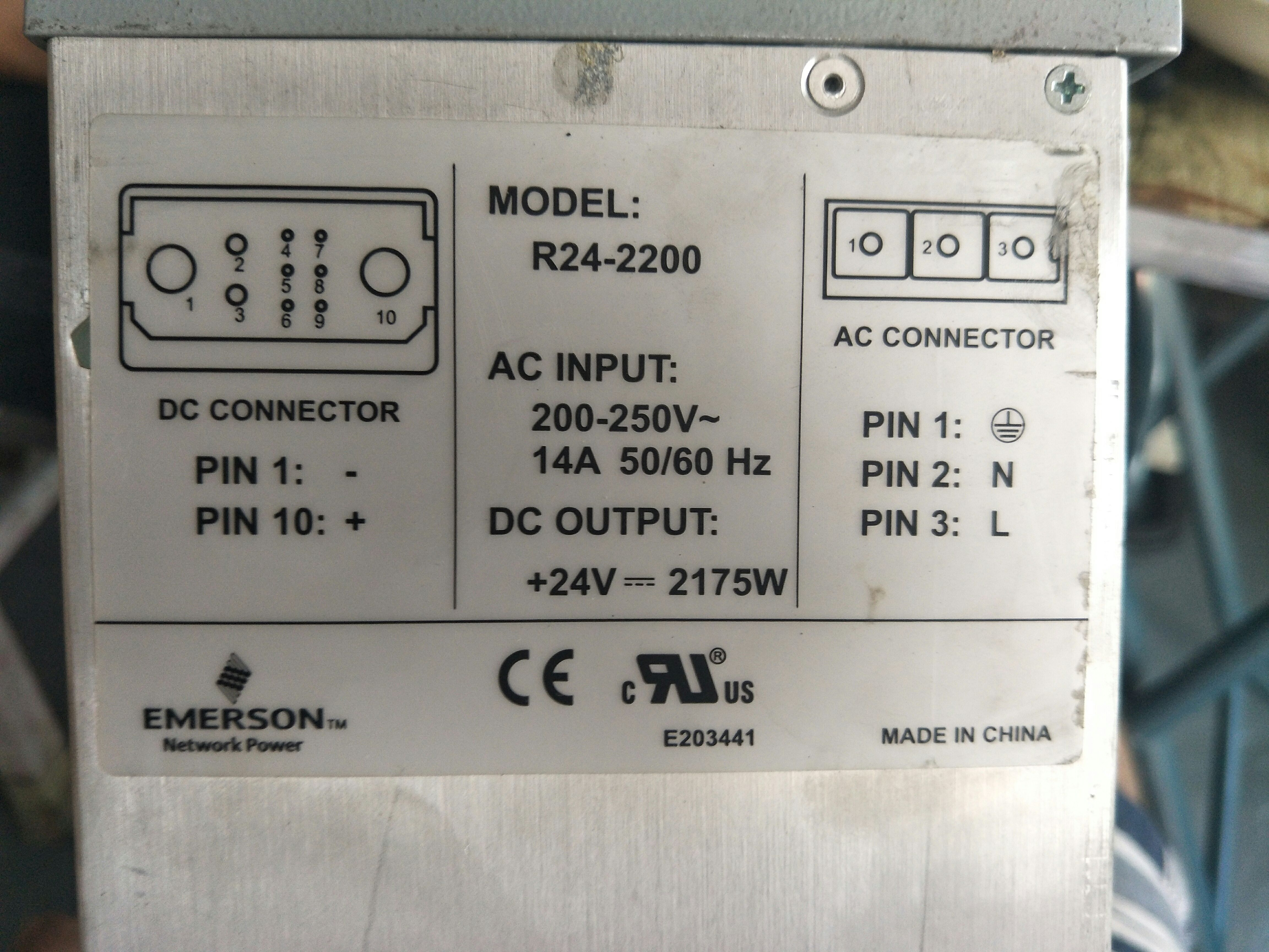 Emerson R24-2200 power module is recycled