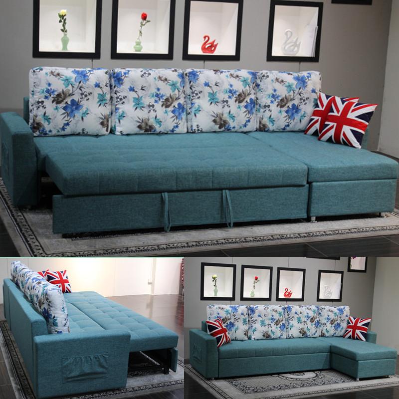 収納家具の小型多機能ソファベッド折りたたみリビングペア布製洗い張りソファベッド