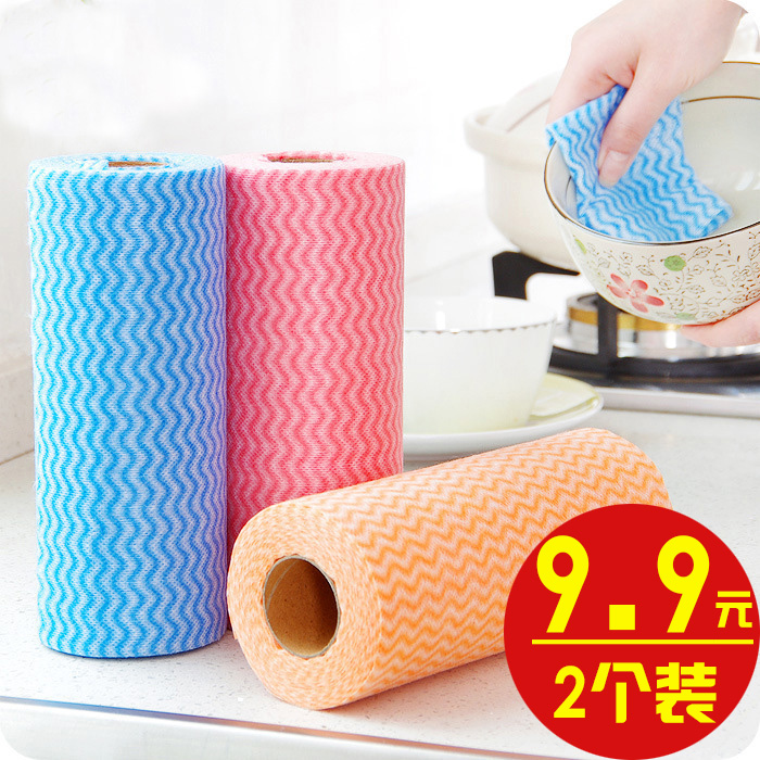 2 free sheared nonwoven cloth and 50 pieces of cloth to clean the cloth with multi function cleaning cloth