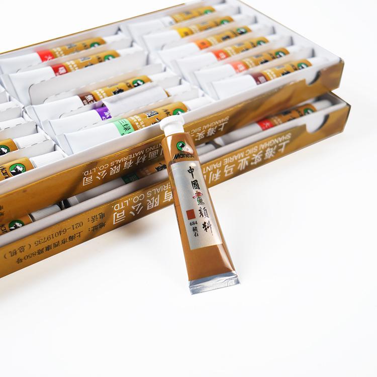 La confezione di Pittura di pigmento di Colore /12 24 12ml La Montagna di Colore dipinto UNO strumento completo inchiostro pennellata di pigmento