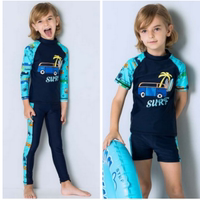 Children's split jacket, sun guard swimsuit, hot spring long sleeve trousers, boys trousers, warm clothes, swimming clothes, surfing clothes