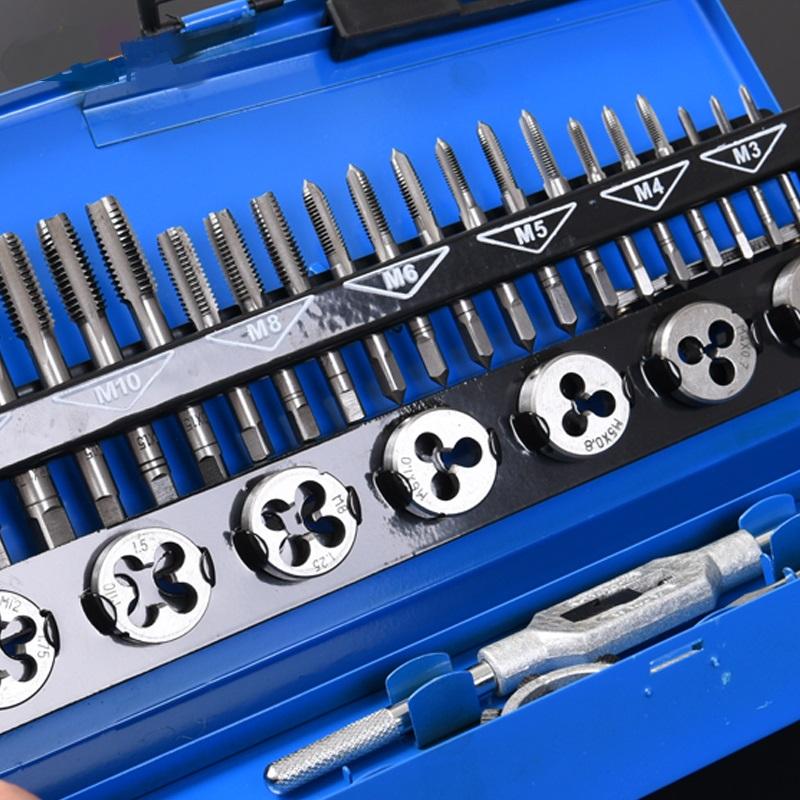 糸攻レンチ牙組逸品の手動糸攻錐ダイセットスーツ金属の工具自動車修理工具
