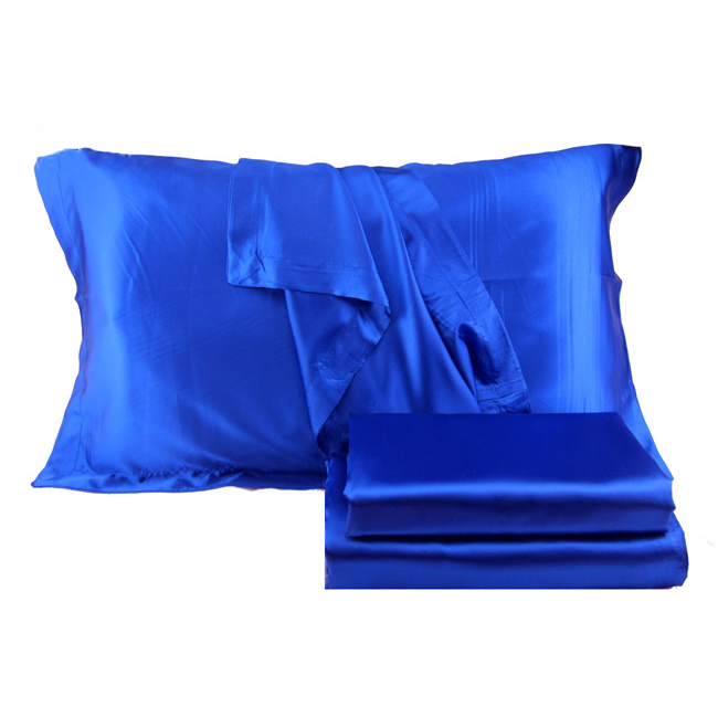 Four copies of silk like package, four sets of foreign color solid sets, blue bed goods