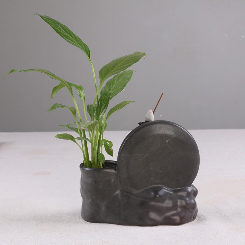 вспять кадило керамические ручку творческих гидропоника ароматические растения аромат назад украшения специальные печи башня