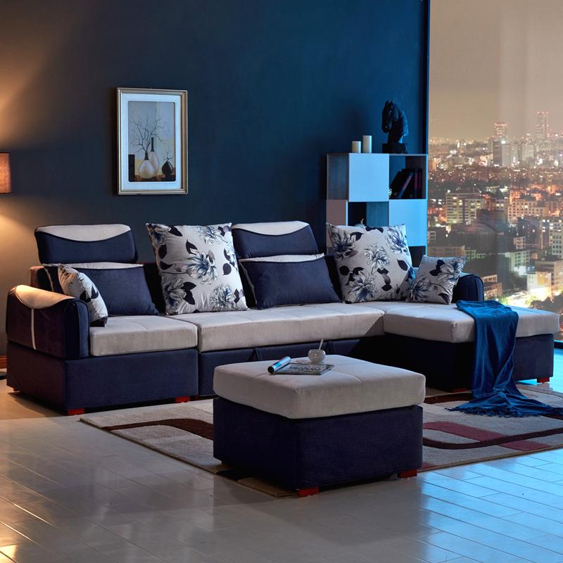 小型地中海多機能ソファベッド収納できるツイて洗い張り曲がり角折りたたみ布製ソファベッド