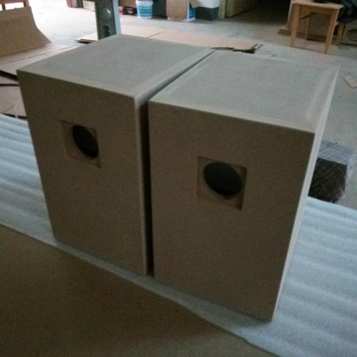 6,5 cm de haut - parleurs coaxiaux de caisson de basse fréquence de la voiture du corps de haut - parleur vides amplificateur audio de labyrinthe passif de bois