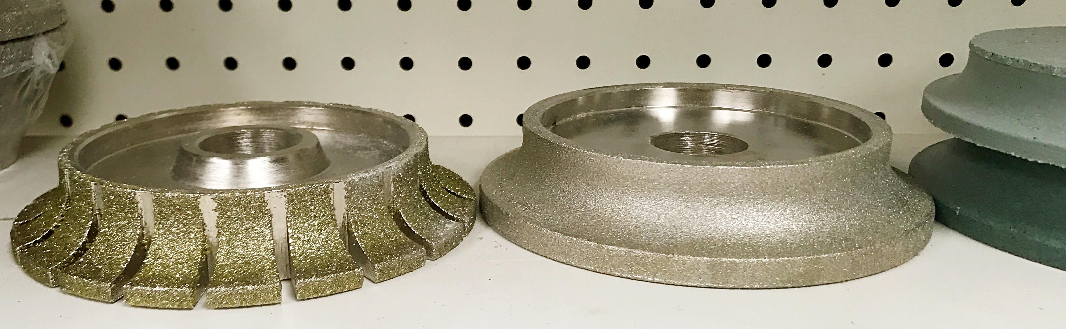 La cabeza de piedra de diamante de ribete, ruedas de molino, el volante de 140 mm de diámetro 8 modelos de 1,5 cm de lado