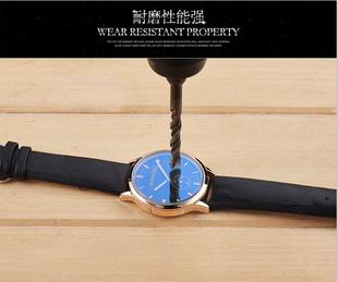 The real leather fashion watch sports men's Korean students waterproof ultra-thin quartz watch simple watch