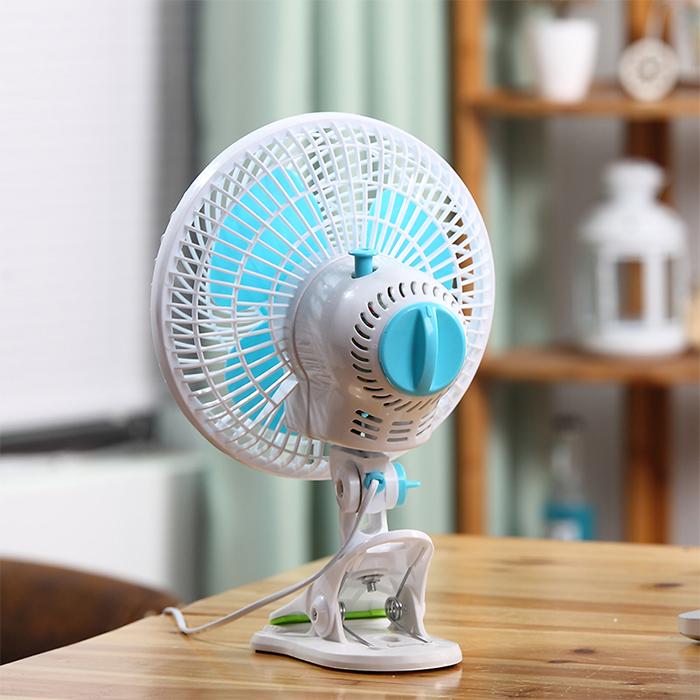Straight TV clip, small fan, mini desktop, clip fan wall fan bed, dormitory fan shake head, mute