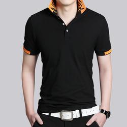 2017夏季纯棉男士短袖T恤 韩版潮流t恤青年修身半截袖翻领polo衫