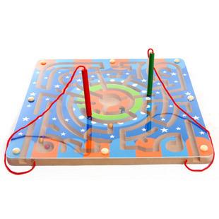 วงแหวนแม่เหล็กเขาวงกตต้นไม้ปากกาย้ายไปสอนเด็กๆทางปัญญาของเล่นลูกบอลลูก 2-3-5-6 ปี