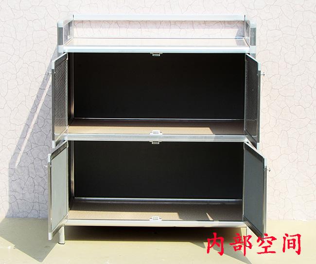 Lockers Aluminum Alloy cabinet kitchen cabinet gas stove cabinet cabinet cupboard cupboard balcony tea cabinet kitchen cabinet