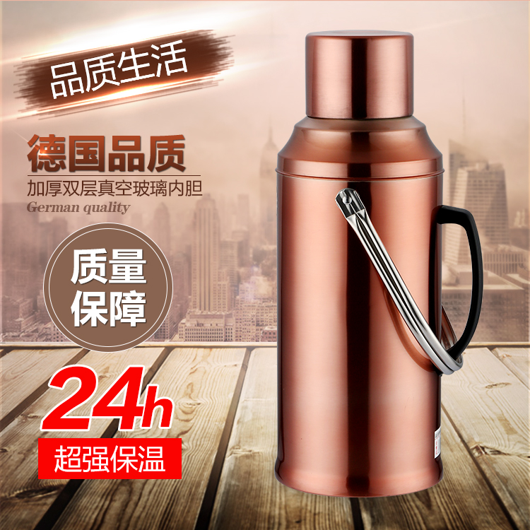 304 stainless steel thermos cup 2500ml vacuum large capacity 2L household thermos bottle male traveling kettle