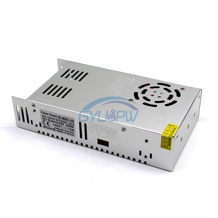 Interruptor de control de Potencia 42V12A llevó el poder transformador de la industria 42V500w DC42V 220V.