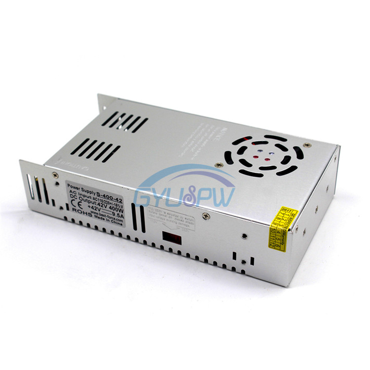 42V9.5A switching power supply, 400W DC transformer, DC42V400W engraving machine, motor, CNC motor power supply