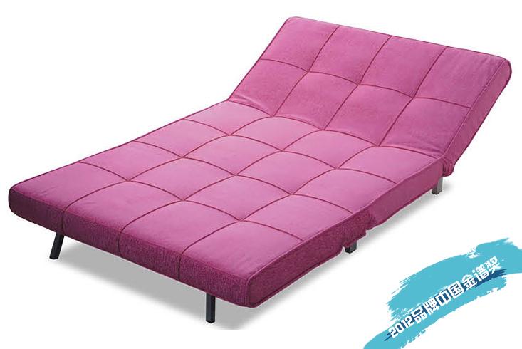 シンプルな現代1 . 2メートル/ 1 . 4メートルの多機能布製ソファベッド無地三折2人掛けソファ961