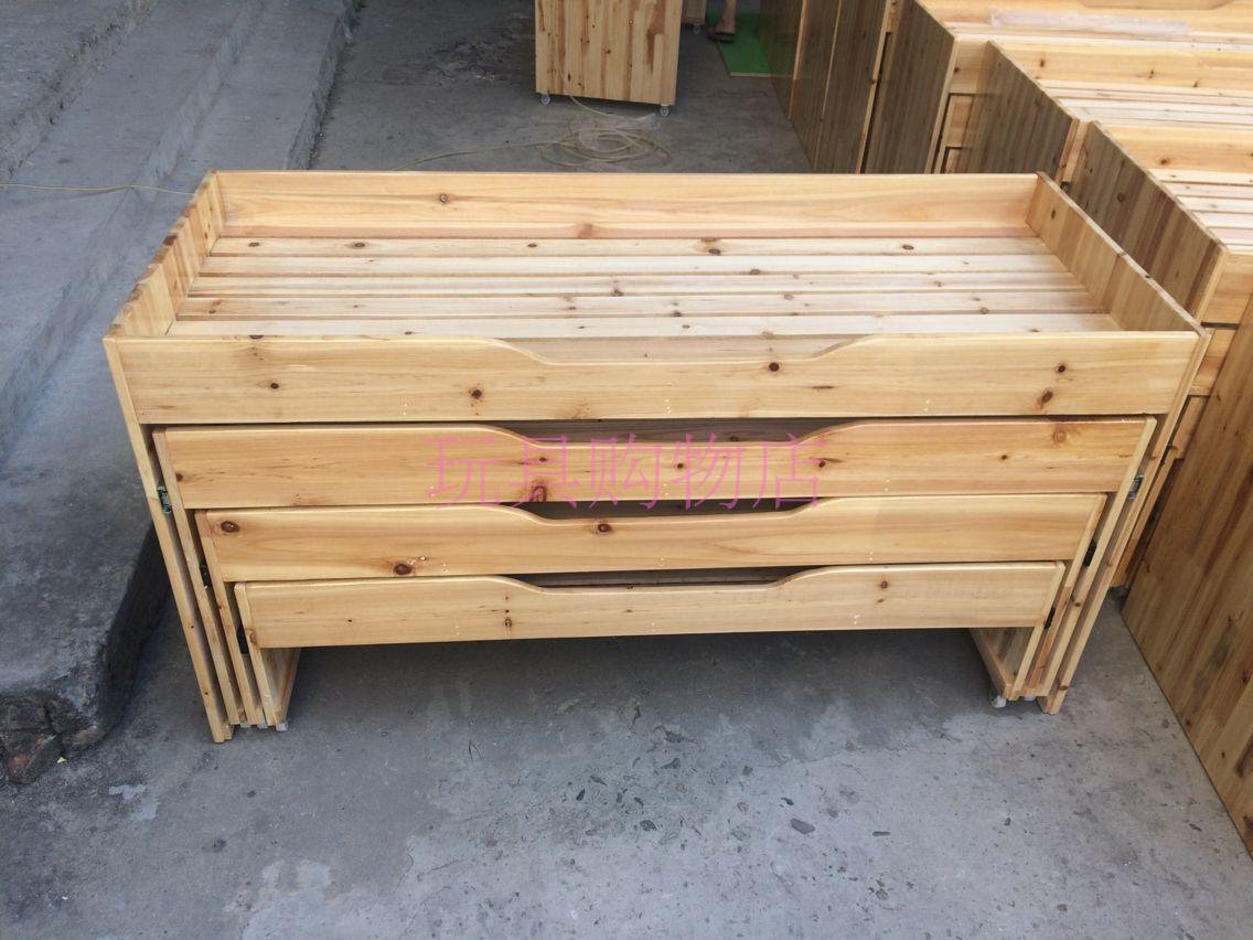 Three school children of Chinese fir layer push broaching machine kindergarten four layer solid wood single bed double bed push pull sylvestris
