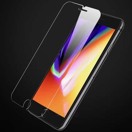 苹果8钢化玻璃膜7 plus防爆屏保6 iphoneX手机贴膜6s高清保护膜5s