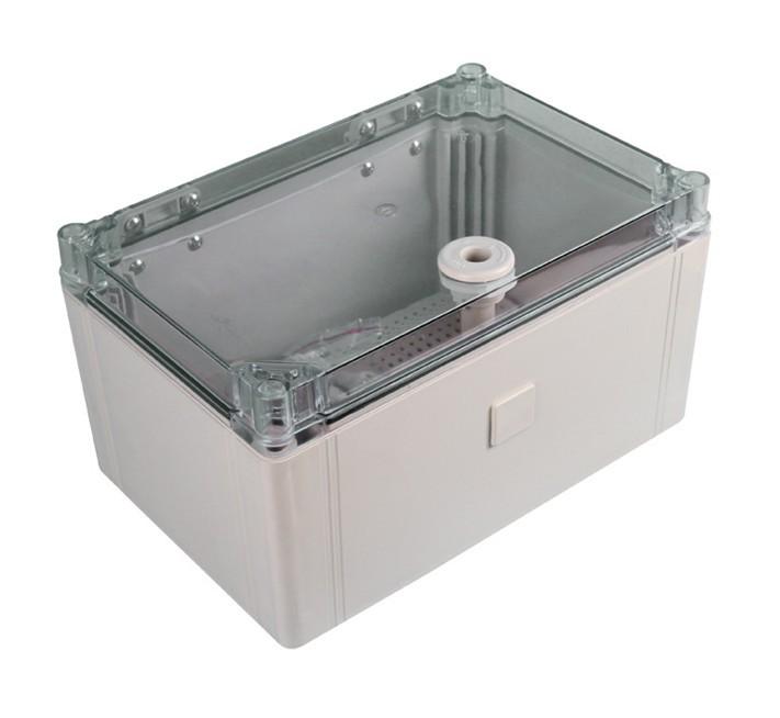 Transparent cover plastic waterproof box, hinge type locking water tank, waterproof power box 300*200*160mm
