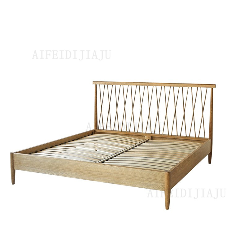 Nordic original Italian style log to Jane wood double oak bed