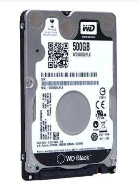 Les données de l'Ouest (WD) disque de noir 500GB7200 SATA332M rotatif de disque dur portable WD5000LPLX