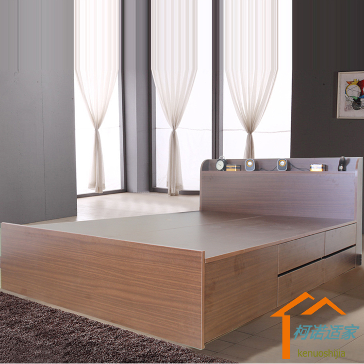 Tatami bed tatami bed plate 1.8 meters 1.5 meters double bed bed Zhuwo economy modern minimalist