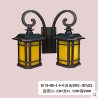 New Chinese style simple European style waterproof wall lamp, simple style courtyard, balcony villa, waterproof and rainproof double head outdoor wall lamp