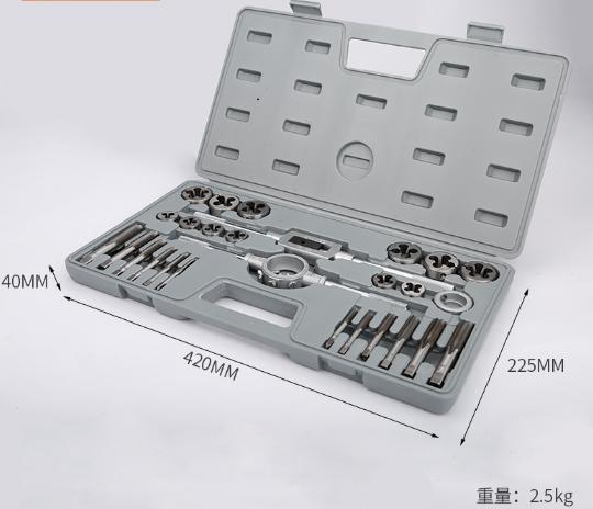 Hardware tools tap die set hand wire power wrench diestock metric screw set