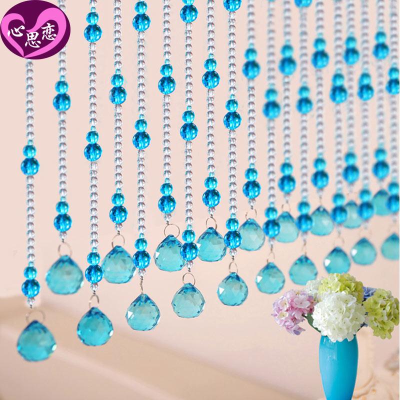 Aus der einfachen Europäischen perlen - eingang der Feng - Shui - perlen verziert schlafzimmer Tür aus Kristall