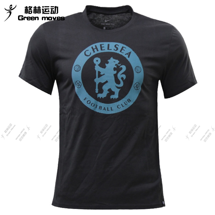 Nike men's Chelsea neck soccer training breathable T-shirt 911194-911206-495-060