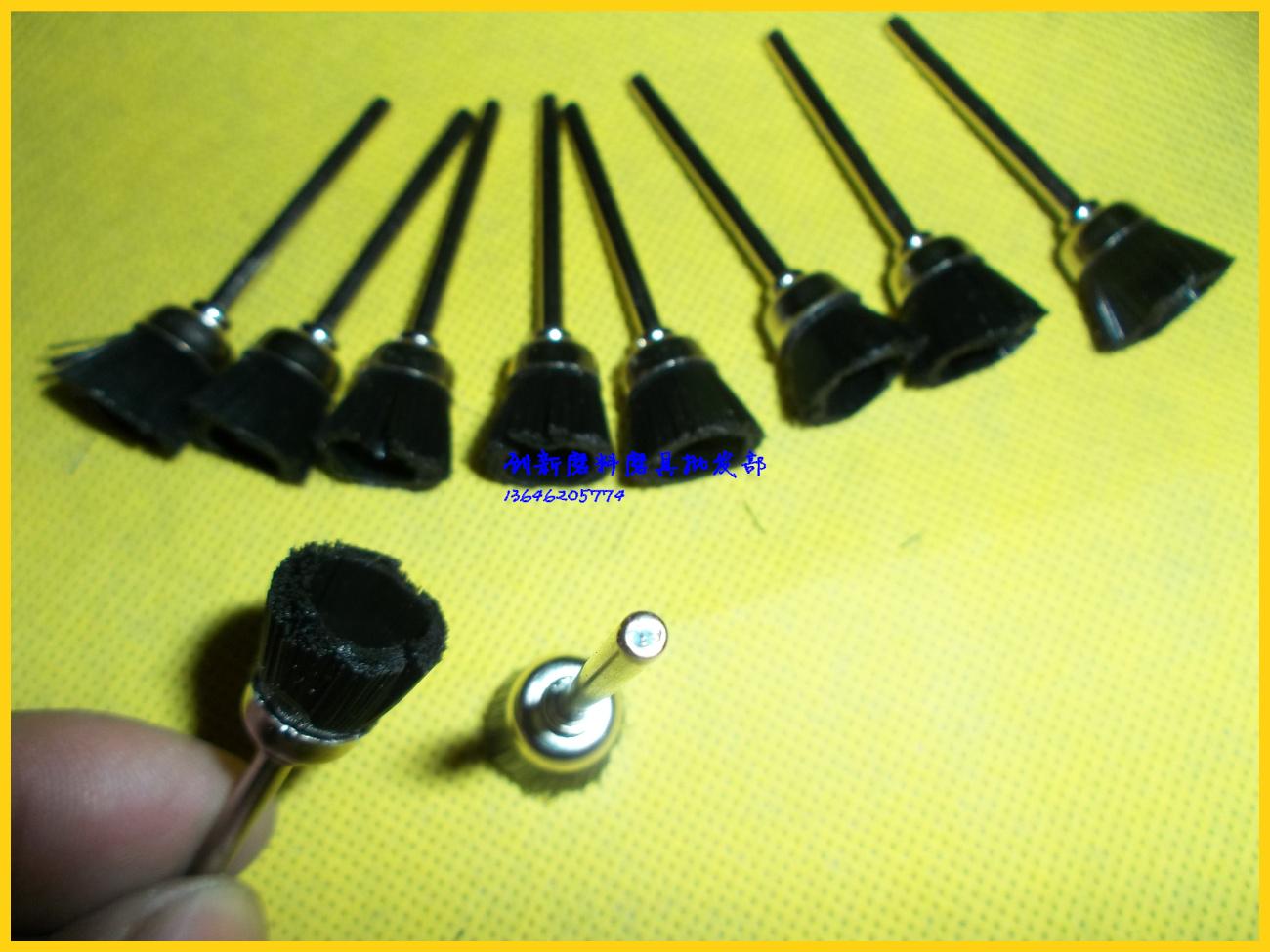 Mini black bristle brush brush brush brush rust bowl type grinders, nylon brush cleaning walnut 3mm*15
