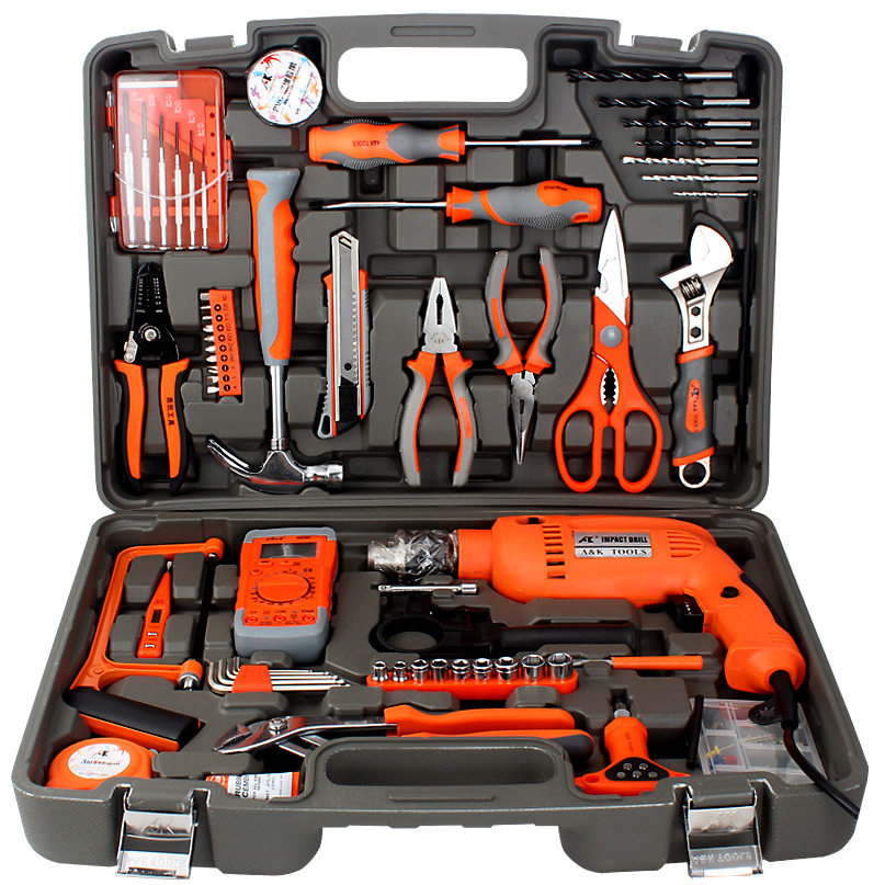 Special hardware tool kit for electrician, insulated screwdriver and pliers