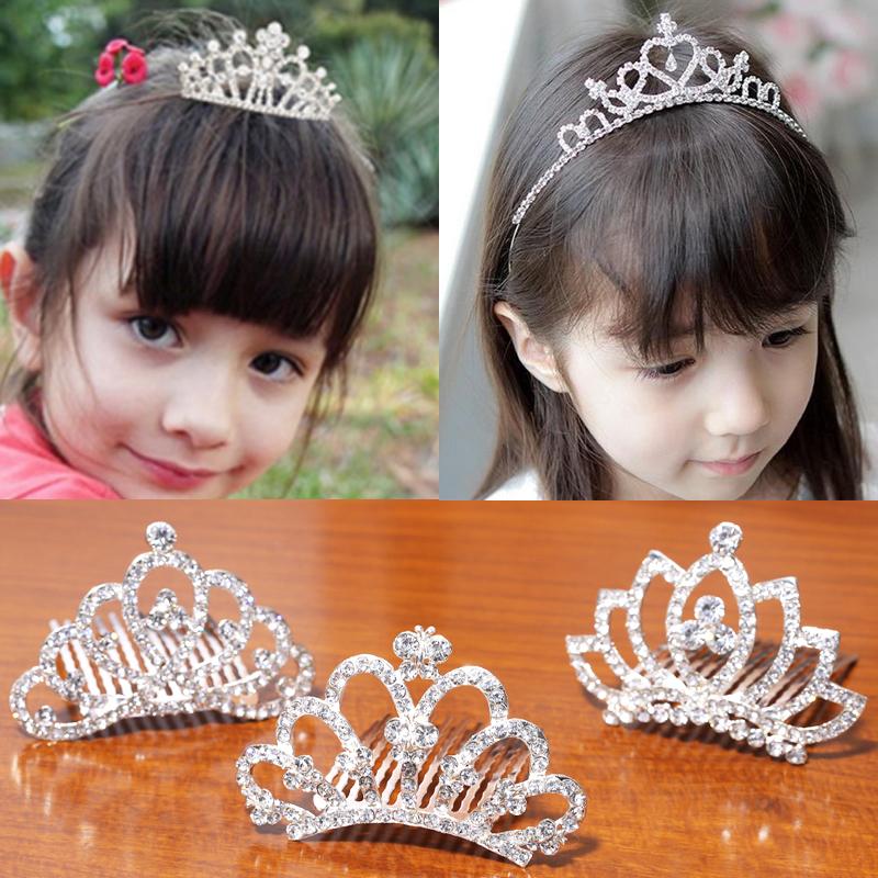 子供の髪飾り女の子女の子を連れてクラウンカチューシャヘアピン歯頭箍ダイヤモンドティアラ誕生日ヘアピン頭箍