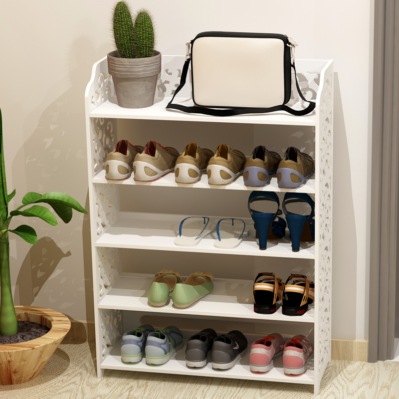 Durable white adjustable door locker convenient and easy to take care of family shoes rack cabinets layered Hall