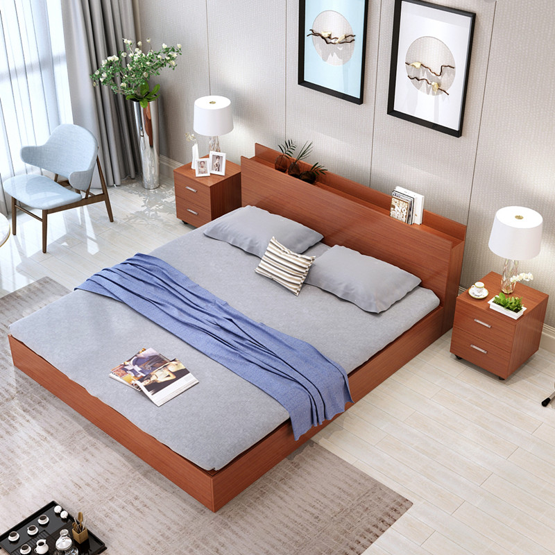 Modern minimalist type bed 1.2 meters 1.5 meters 1.8 meters high double tatami bed storage box containing bed bed