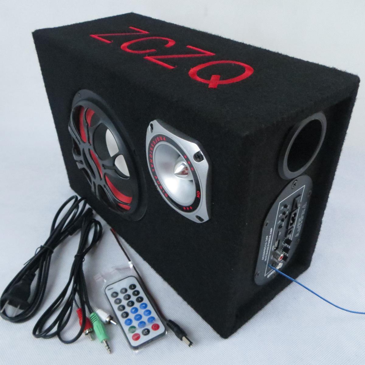 Subwoofer de 6 pulgadas el Bluetooth estéreo del auto a control remoto 12V24V 220V ordenadores parlantes tarjeta U disco