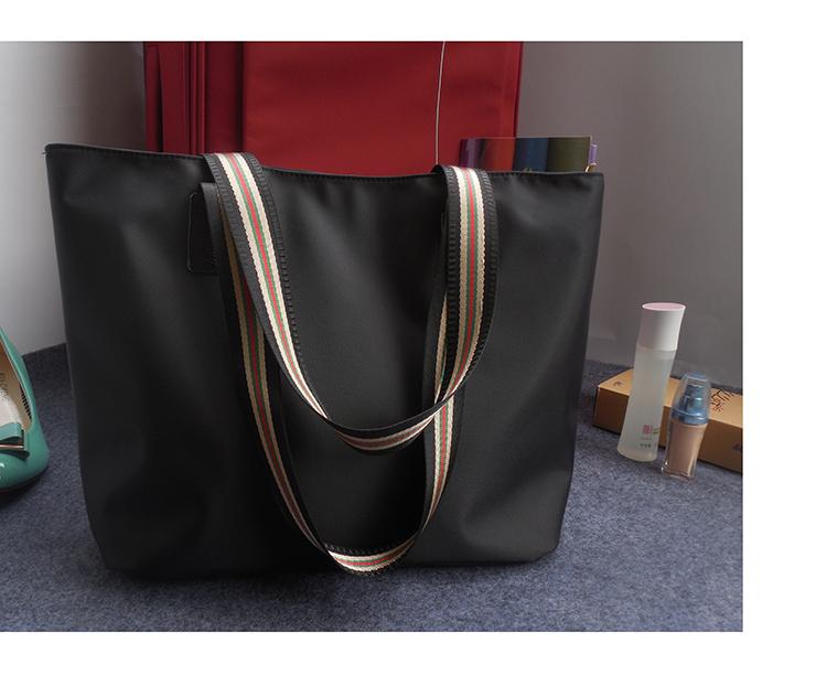 新款简约帆布包通勤单肩包防水牛津布尼龙女包大容量托特包手提包